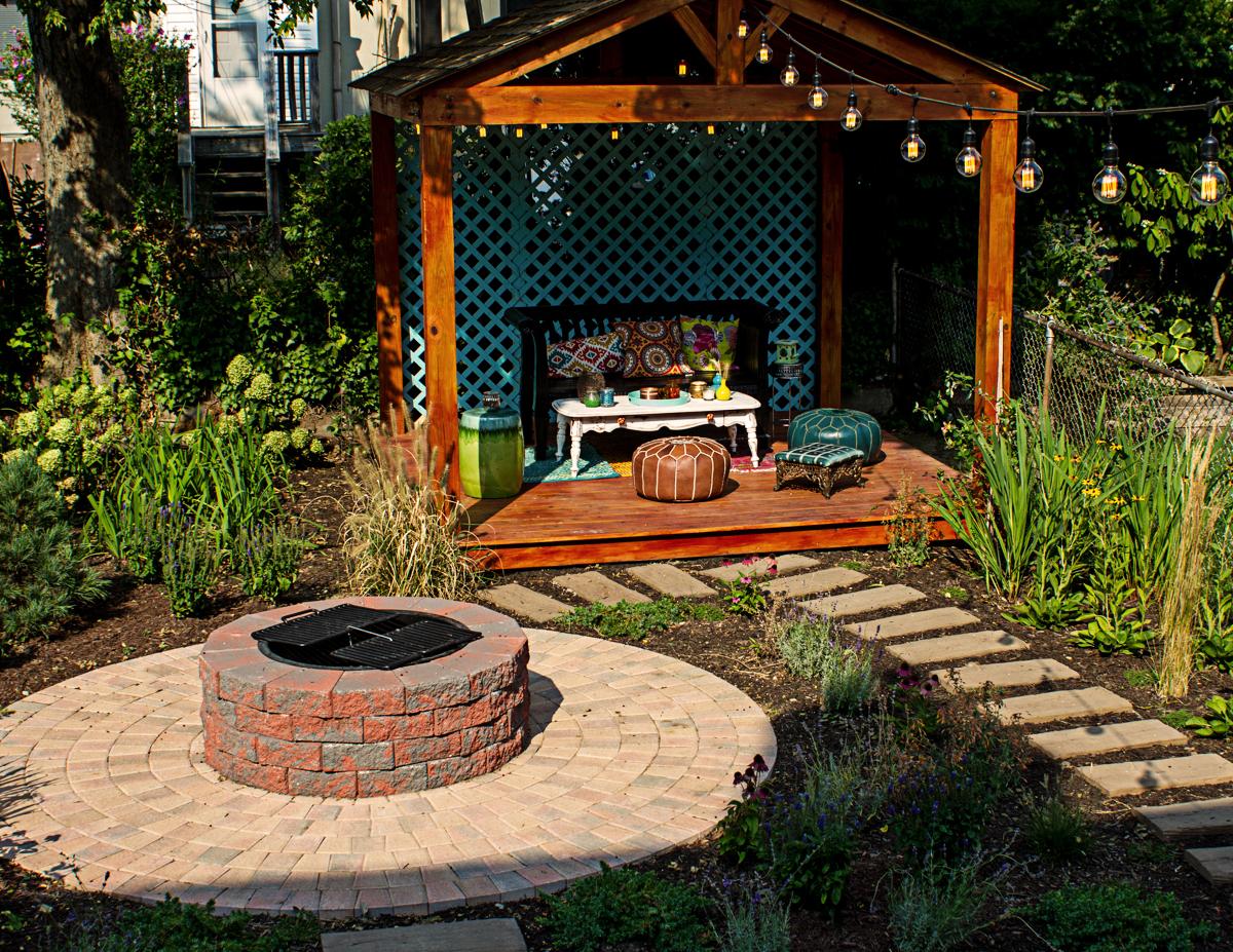 Bay Ridge garden and gazebo