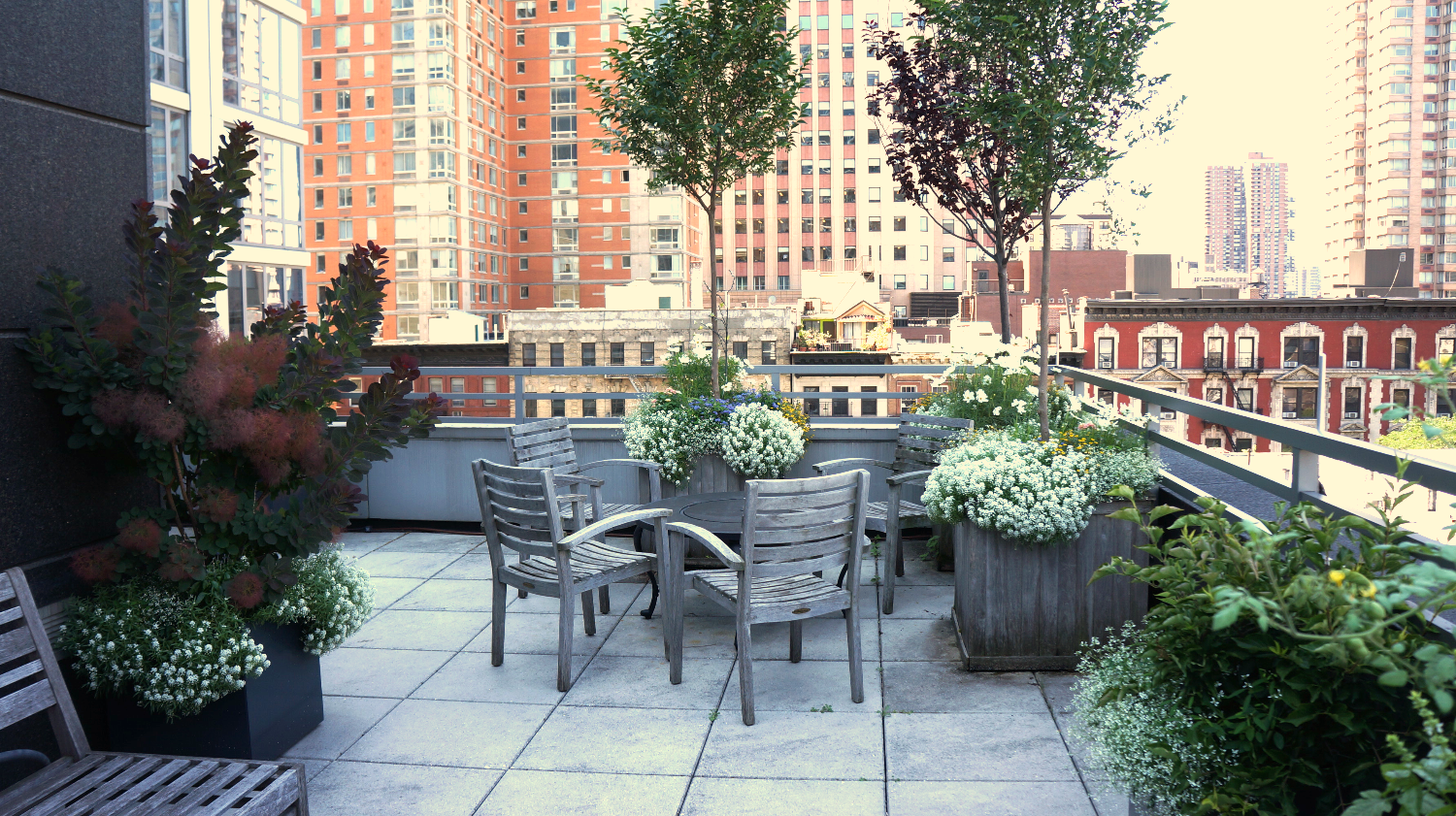 Garden terrace in Manhattan
