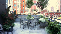 Garden terrace in Manhattan