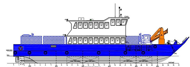 25m wheelhouse landing craft