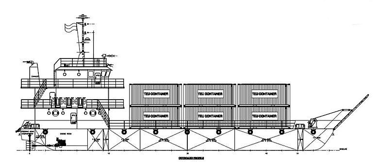 Self propelled barge + passenger