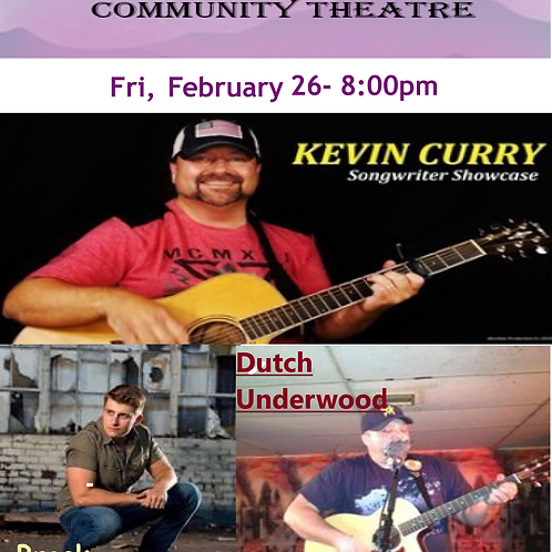 Fri, Feb 26 - 8:00pm - Songwriters' Showcase