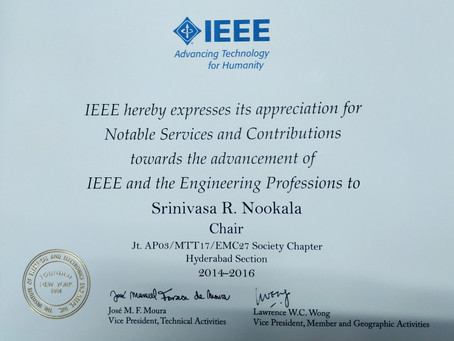 IEEE Appreciation For Serving As Chair Of Jt.AP03/MTT17/EMC27 Society Chapter