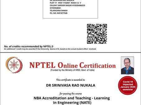 NPTEL Online Certification