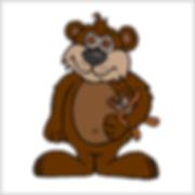 Cartoon bear holding teddy bear