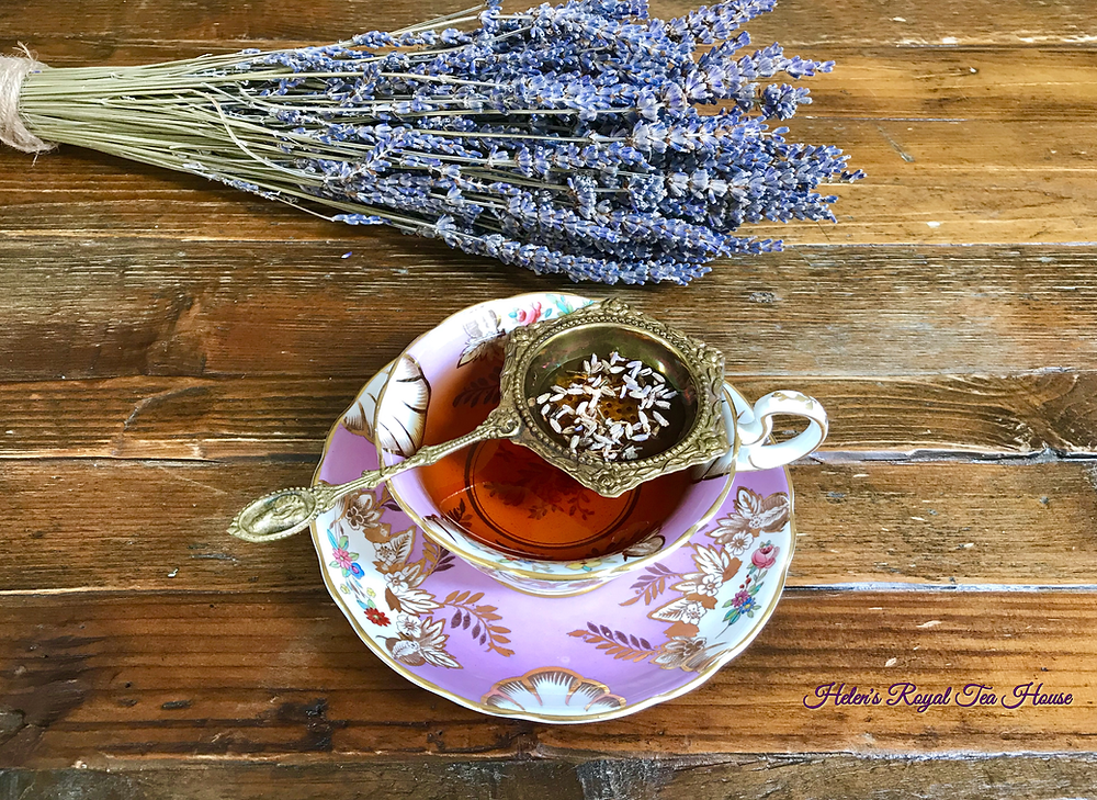 Helen's Royal Tea House loves lavender sugar in tea
