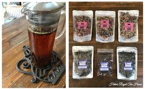 Lavender Tea brewing and Chat Noir Apothicaire Teas