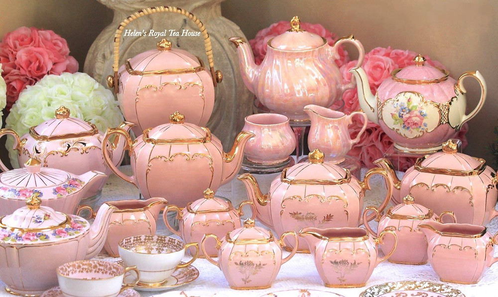 Pink Sadler Teapots