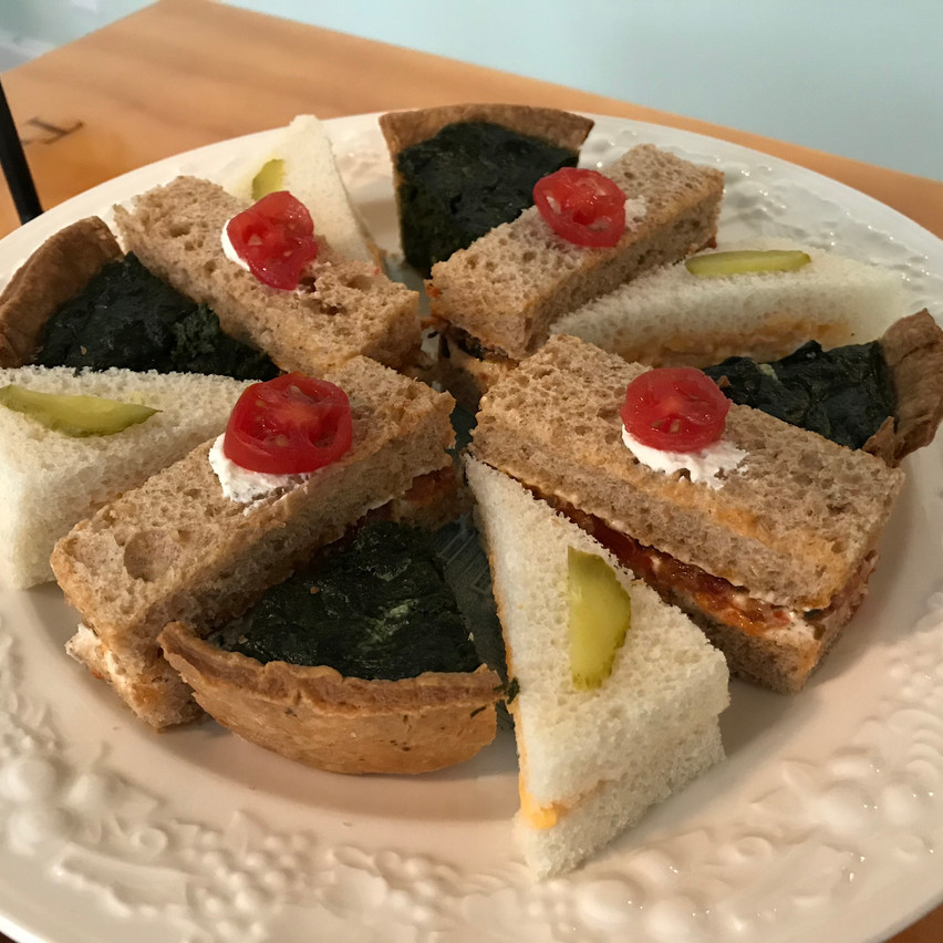 Finger sandwiches at Twenty Six Divine