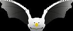 Logo de Okurelo, águila con alas de murciélago.