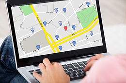 Close-up Of A Woman Using GPS Map With N