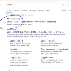 Be careful of fake Ledger Live websites !