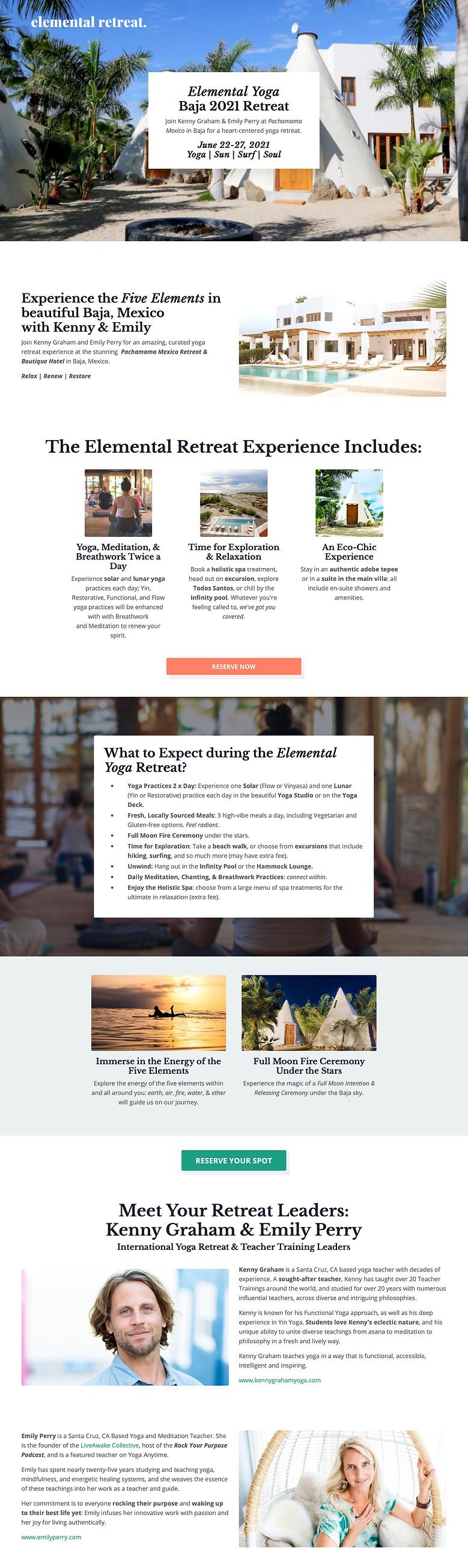 Elemental Yoga Retreat  Baja 2021 with K