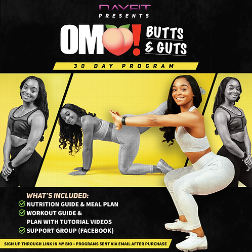 """BUTTS & GUTS"" 30 Day Program"