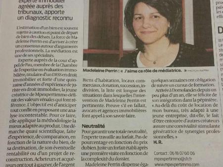 Le journal du Sud Ouest Landes, Pyrénées Atlantiques et Gironde parle de votre cabinet d'experti