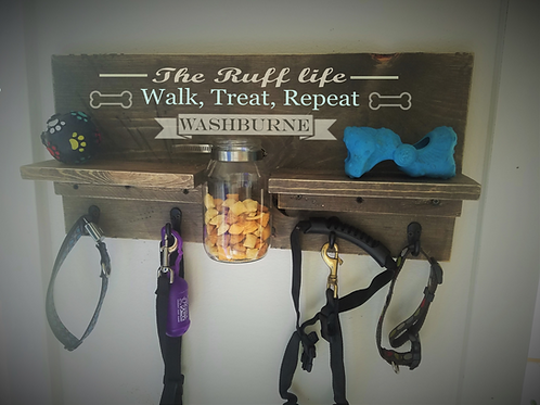 Personalized Leash Holder (The Ruff Life..)