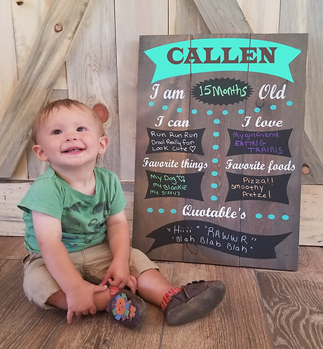 Custom Order Baby/Child milestone chalkboard