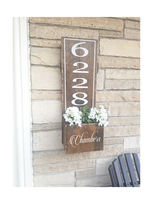 Personalized Address planter