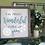 Thumbnail: 2 Sided Seasonal Framed Sign