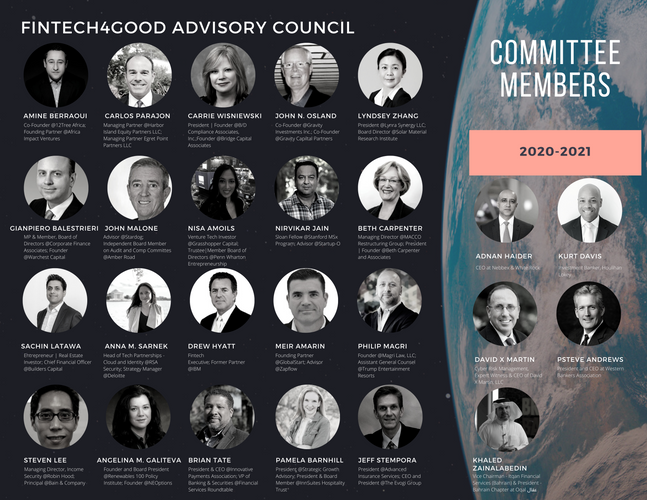 FinTech4Good Advisory Council