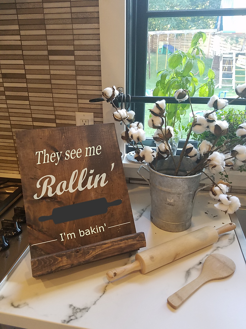 They see me Rollin' Cook book or Tablet Stand