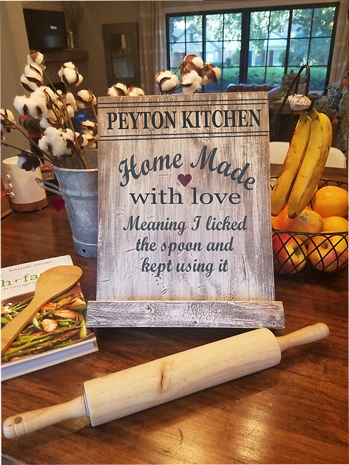 Homemade with love Cook book or Tablet Stand