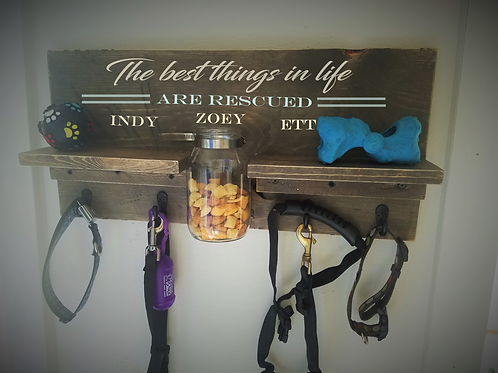 Personalized Leash Holder (the best things...)