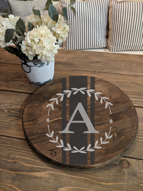 Lazy Susan (wreath monogram)