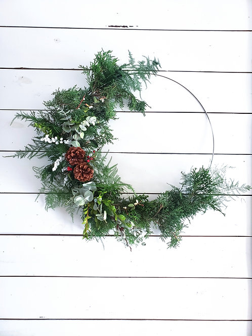 Dec 9th Holiday Wreath workshop