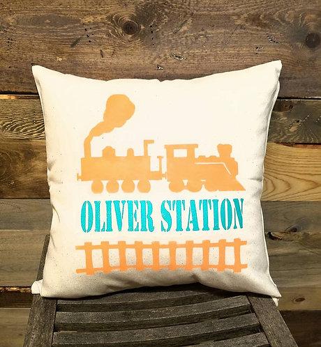 Train Station Pillow