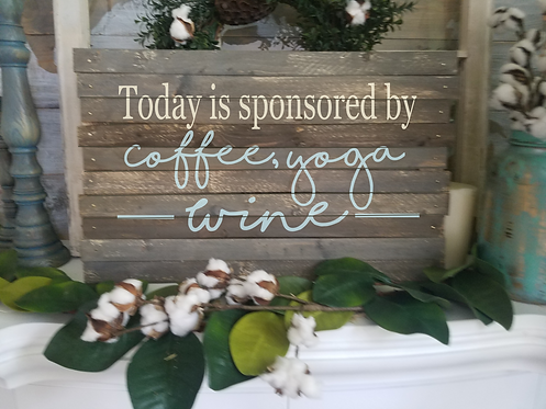 sponsored by coffee, yoga, wine