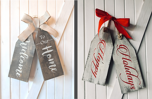 Double Sided Wooden Door tags