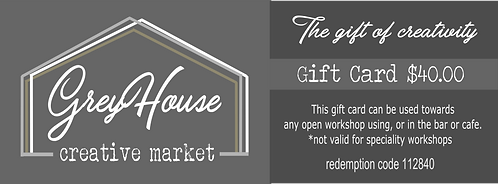 GreyHouse Creative Market gift certificate