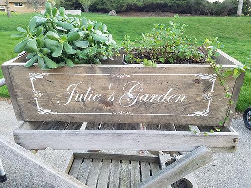 Planter Box (personalized Garden)