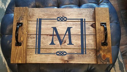 Square Monogram Serving Tray
