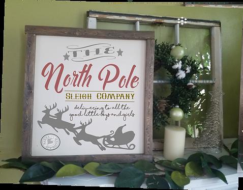"North Pole! (single sided) 26""x26"""