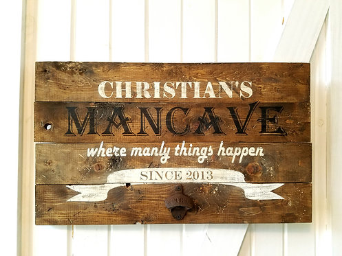Custom order Personalized Mancave wood sign