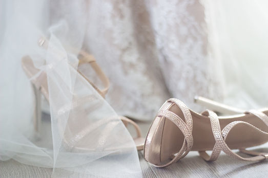 Shoes Lace Wedding Dress Rose Gold High Heels