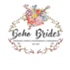 Boho Brides Logo Flowers Vines Ivy Weddings Events Photography Videography