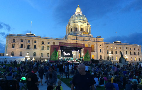 Freestyle Productions provided Sound lighting and staging for the repoening of the Monnesota State Capitol