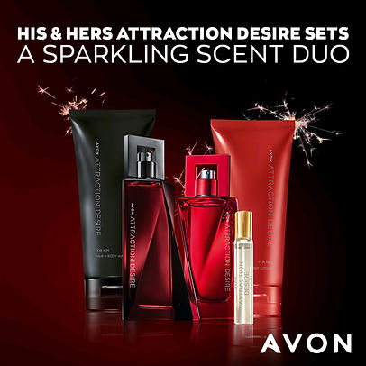 His & hers Avon attraction desire sets