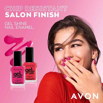 Smiling girl showing nail polish nails