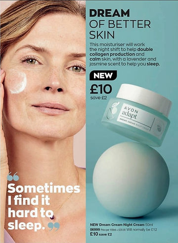 Menopause night cream
