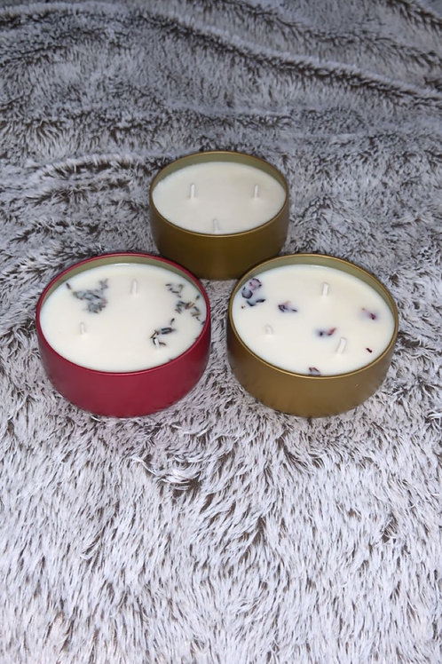 8oz- 3 wick candles