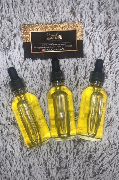 Stimulating hair growth oil