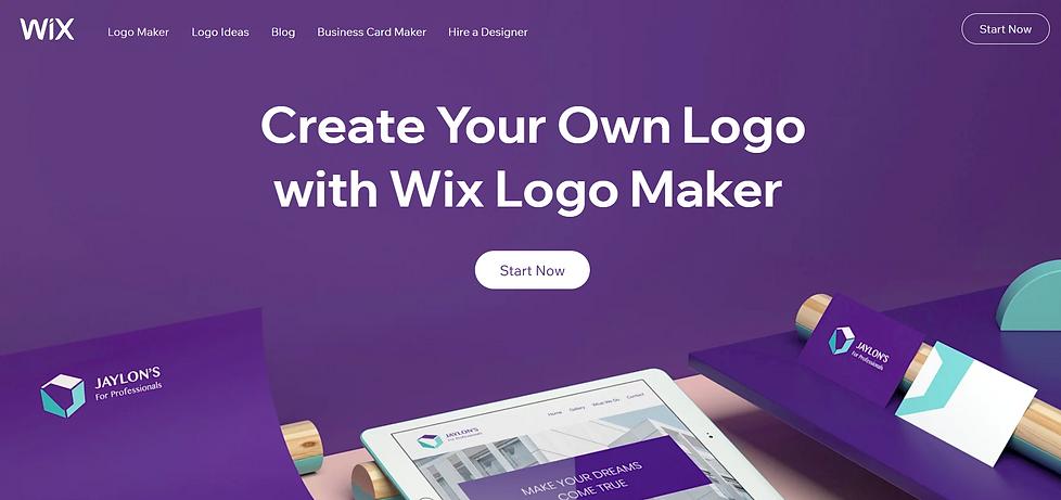 wix logo kūrimo įrankis