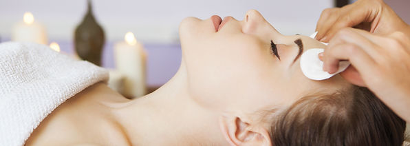 Relaxed woman with a deep cleansing nour