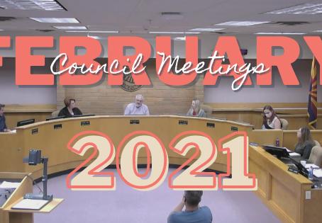 1st Half of February 2021 at City Hall