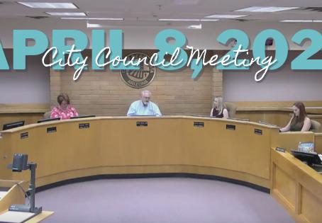 City Council Meeting on April 8, 2021