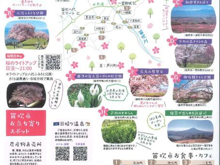 Hanami spots in Fuefuki